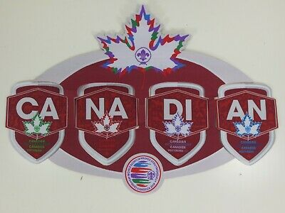 24th World Scout Jamboree 2019 Rare Canadian Contingent Badges Complete Set of 5