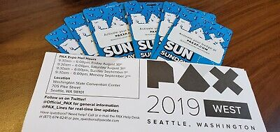 PAX West 2019 - Sunday Badge - 8/31/19 - Seattle,WA In Hand and ready to ship.