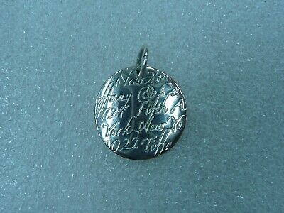 Tiffany & Co. Sterling 925 Silver 727 Fifth Avenue New York Notes Pendant