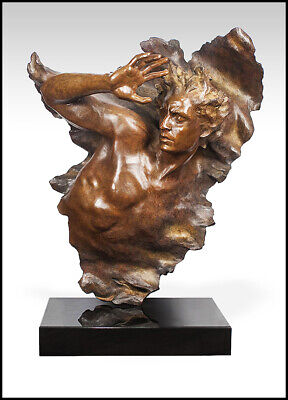 Frederick Hart Large Bronze Sculpture Ex Nihilo Male Full Round Signed Artwork