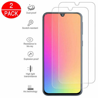 For Samsung Galaxy A50 A40 Clear Full Coverage Tempered Glass Screen Protector