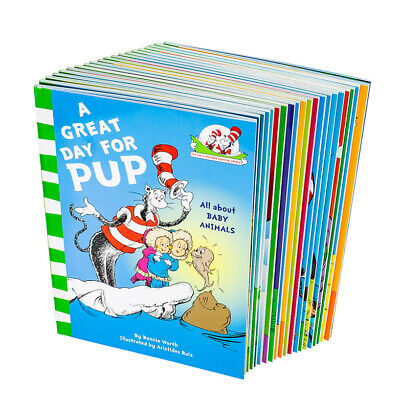 Cat In The Hats Learning Library 20 Books Children Collection Paperback Dr Seuss
