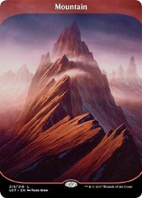 Magic The Gathering MTG Mountain Unstable Trading Card NM