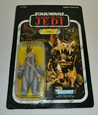 Vtg Star Wars Return of the Jedi Teebo Action Figure 1983 Kenner Carded 77 Back