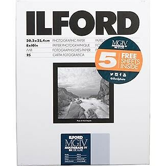 Ilford 1178283 8x10 RC Pearl 25+5 (30)  Sheet 1178283