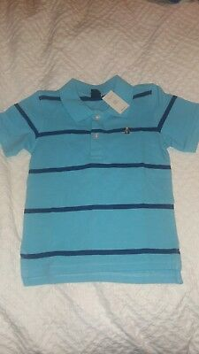 New TAGS Gap Light Blue with Navy Blue Stripes 4T polo with Tags Never worn!
