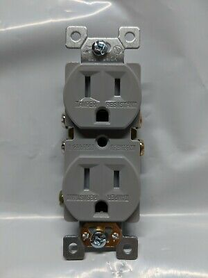 10 pc 15A Standard Duplex Receptacles 15 Amp Tamper Resistant TR Outlets GRAY
