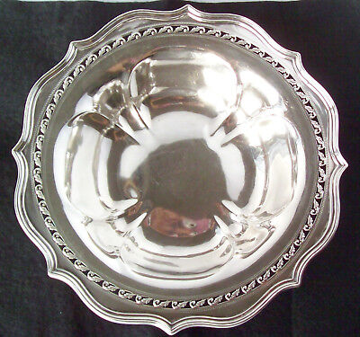 Older Jennings Silver Co. Heavy Sterling Serving Bowl Reticulated Scroll Rim
