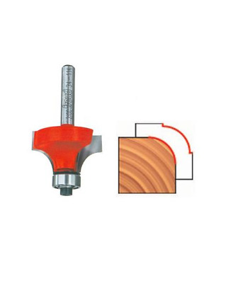 Freud Pro Rounding Over Router Bit 34-10025 - 15.9mm D x 12.7mm H x 1.6mm R