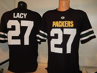 9814 MENS Green Bay Packers EDDIE LACY Hashmark Dri-Fit Football JERSEY BLACK