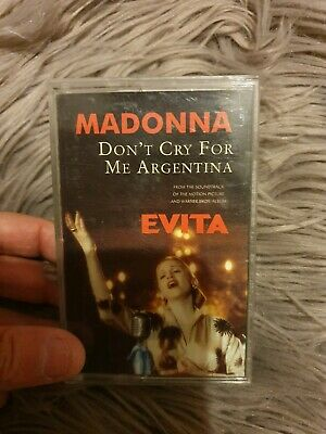 Madonna Dont Cry For Me Argentina Cassette single from Evita