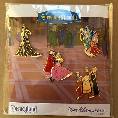 Retired Sleeping Beauty Disney World Disneyland Booster Pin Set