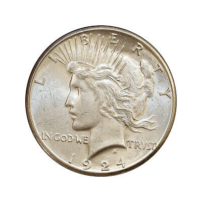 Superb - 1924 S Peace Silver Dollar - Gem BU / MS / UNC - High Grade Coin