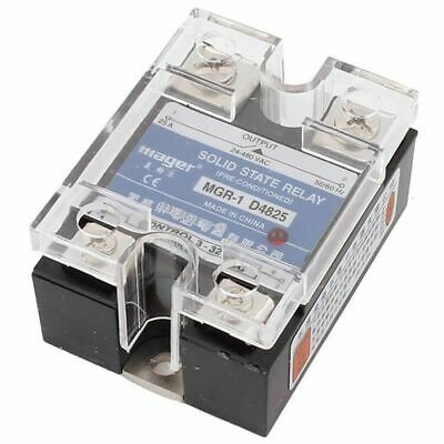 2X(SSR 25A 3-32V DC To 24-480V AC Single Phase Solid State Relay DC ControlK5B7)