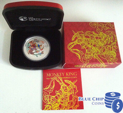 2016 $1 Monkey King 1oz Silver Coloured Coin PERTH MINT