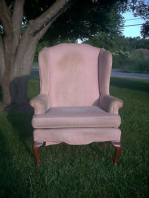Vintage 1994 Queen Anne Wingback/Fireside Chair - Sam Moore Furniture