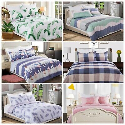Soft Polyester Printing Doona/Duvet/Quilt Cover Set Double/Queen/King Size Bed