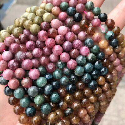 6mm Natural Round Tourmaline Jasper Loose Beads Diy Accessories Jewelry Making