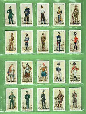 #T60.  Set(50)  1939 Uniforms Of Territorial Army  Player & Sons Cigarette Cards