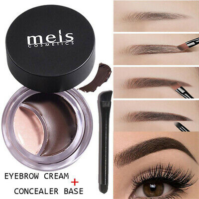 2 IN 1 Durable Eyebrow Cream + Concealer Waterproof Makeup Eye Brow Cream Hot