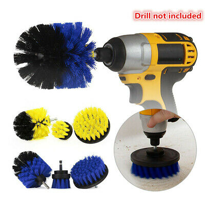3pcs Power Scrubber Cleaning Drill Brush Tub Cleaner Combo Tool Kit New DE