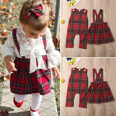 UKStock Kids Baby Girl Sister Match Flower Jumpsuit Romper Dress Outfits Clothes