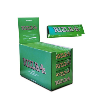 Green Rizla Rolling Papers 600 Papers 12 Booklets.