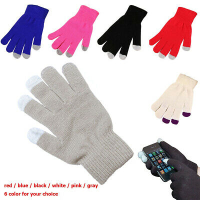 Fashion Capacitive Mobile Phone Smartphone Touchscreen Gloves Knit Warm Mittens