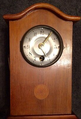 Rare Antique German Junghans  Wooden Mantel Clock age between 1880/1900