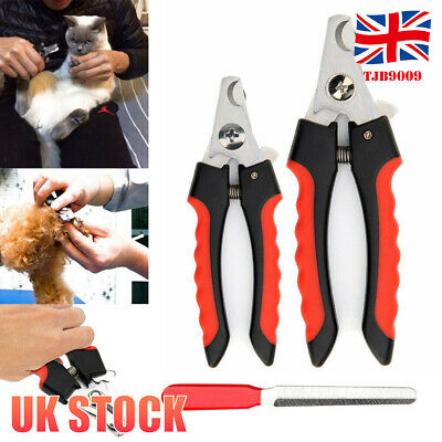 Pet Nail Dog Cat Claw Nail Clippers File Trimmer Scissors Grooming Cutters File