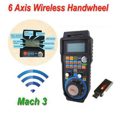 6 Axis Wireless Electronic Handwheel CNC Mach3 MPG Pendant Machine Controller