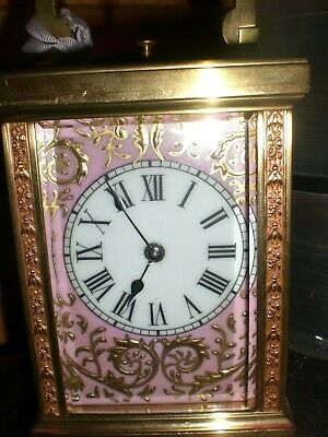 19thC  Superb Carriage  Repeater Clock with Case