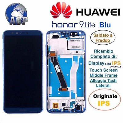 Display LCD Touch Screen Middle Frame HUAWEI Honor 9 Lite LLD-L31 Blu Originale