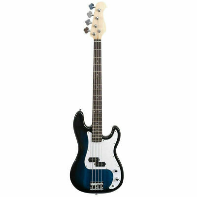 Full Size 4 String Electric Bass Guitar Blue
