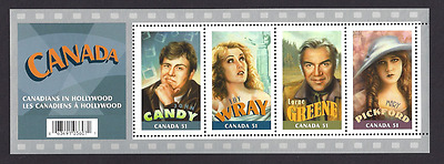 Canada  # 2153 SS     CANADIANS IN HOLLYWOOD    2006    Post Office Pristine Gum