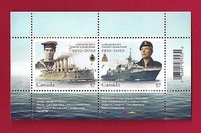 Canada  # 2384  Souvenir Sheet  2010   Canadian Navy    Post Office Pristine Gum