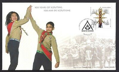 Canada   # 2225    100 YEARS SCOUTS CANADA       New 2007 Unaddressed