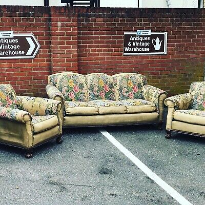 Edwardian Three Piece Suite All Original Upholstery