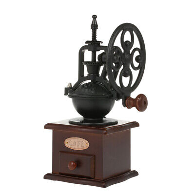 Manual Coffee Grinder Antique Coffee Mill Cast Iron Hand Crank with Grind T9Q0