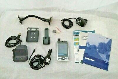 Medion MDPNA100 pocket PC with Cradle, Car Adapters, Chargers, Manuals - Working