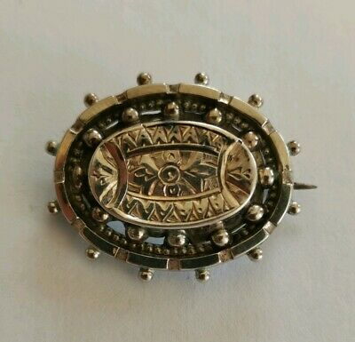 Antique aesthetic movement Victorian brooch