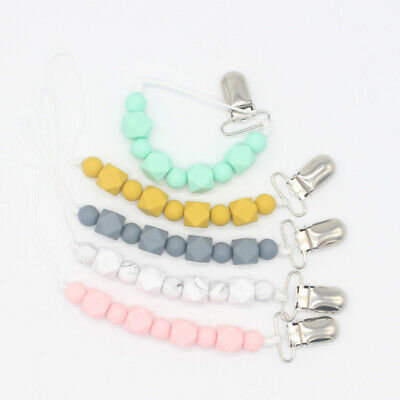 Silicone Dummy Holder  Teething Toy  Baby Nipple Clasps Pacifier Clip Chain