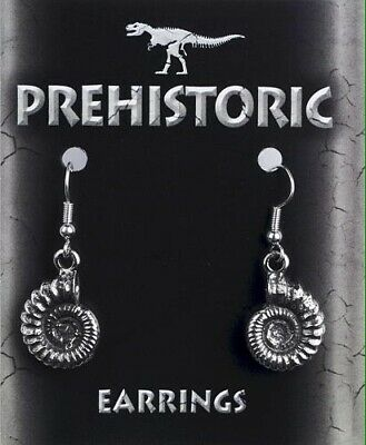 A Pair Of Ammonite Silver Pewter Earrings