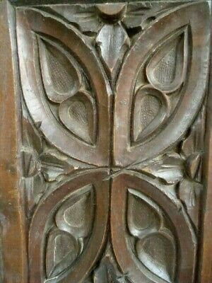Deep Carved 18Th / 19Th Century Oak Carved Gothic Tracery Panel