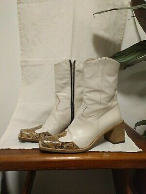 Vintage Western Made In Italy Leather Boots