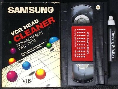 Samsung VHS Video Cleaner Clean VCR Head With Wet Cleaning System