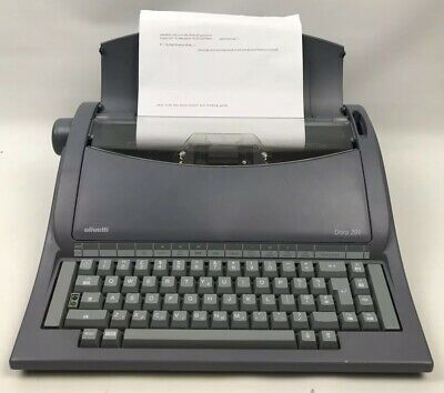 Olivetti Portable Electric Typewriter Model Dora 201 Tested Working