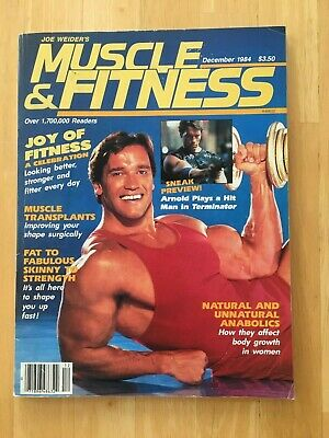 MUSCLE & FITNESS magazine ARNOLD SCHWARZENEGGER cover December 1984