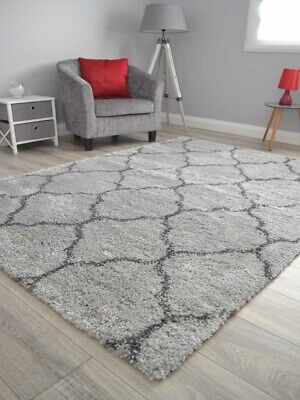 Light Dark Grey Small Extra Large Soft Thick Trellis Shaggy Floor Mat Rugs Cheap