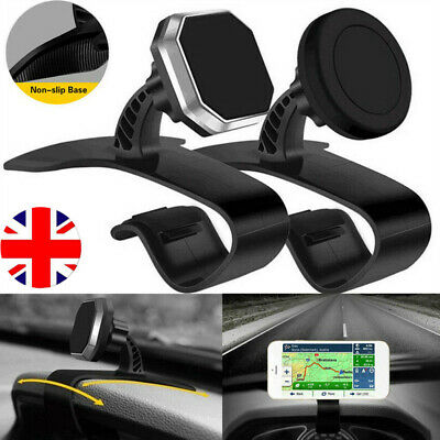 Mobile Phone Holder Dashboard Clamp GPS Mount Universal 360 In Car Dash Magnetic